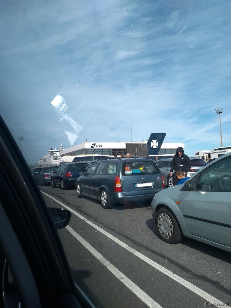 De wachtrij op de DFDS Terminal Duinkerke